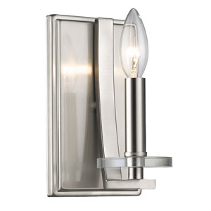 Verona Brushed Nickel One-Light Wall Sconce
