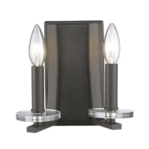 Verona Bronze Two-Light Wall Sconce