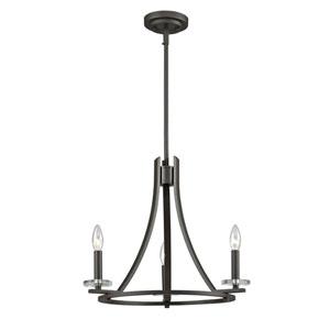 Verona Bronze Three-Light Chandelier