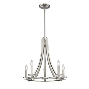Verona Brushed Nickel Five-Light Chandelier