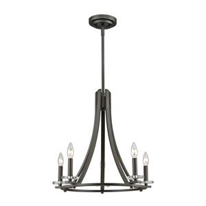 Verona Bronze Five-Light Chandelier