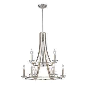 Verona Brushed Nickel Nine-Light Chandelier