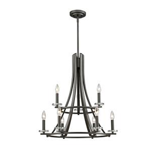 Verona Bronze Nine-Light Chandelier