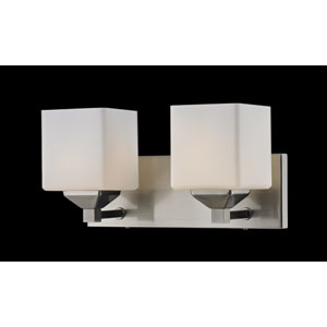 Quube Two-Light Bathroom Fixture