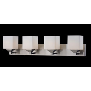 Quube Four-Light Bathroom Fixture