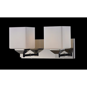 Quube Two-Light Bathroom Fixture