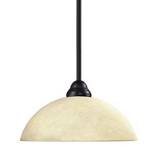 Cobra One-Light Bronze Dome Pendant with Golden Mottle Shade