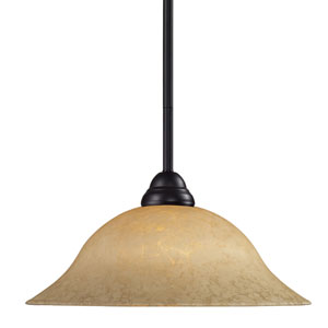Cobra One-Light Bronze Dome Pendant with Flared Golden Mottle Shade