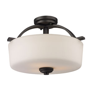 Arlington Three-Light Semi-Flush Mount
