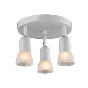 Pria White Three-Light Semi Flush Mount