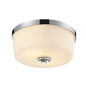 Lamina Chrome Two-Light Flush Mount Light