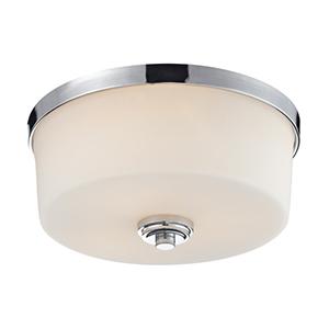 Lamina Chrome Three-Light Flush Mount Light