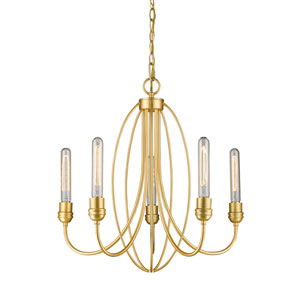 Persis Satin Gold Five-Light Chandelier