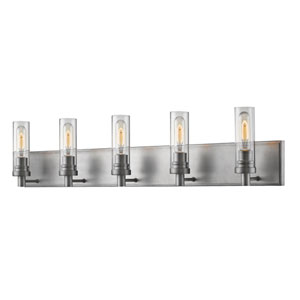 Persis Old Silver Five-Light Vanity