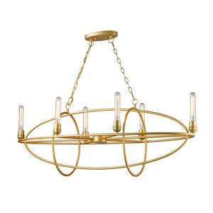 Persis Satin Gold Six-Light Chandelier