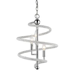 Czarina Chrome Three-Light Pendant