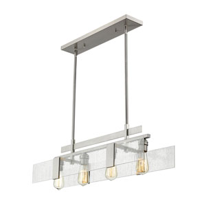 Gantt Brushed Nickel Four-Light  Island Pendant