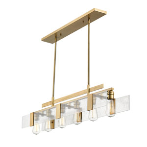 Gantt Vintage Brass Six-Light  Island Pendant