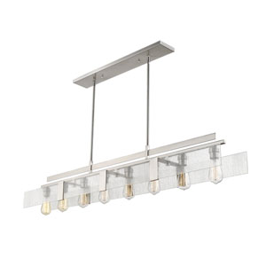 Gantt Brushed Nickel Eight-Light  Island Pendant