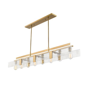 Gantt Vintage Brass Eight-Light  Island Pendant