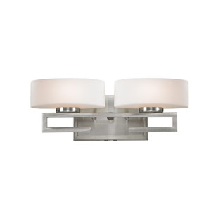 Cetynia Brushed Nickel Two-Light LED Bath Vanity