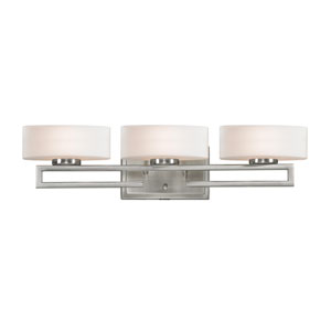 Cetynia Brushed Nickel Three-Light LED Bath Vanity