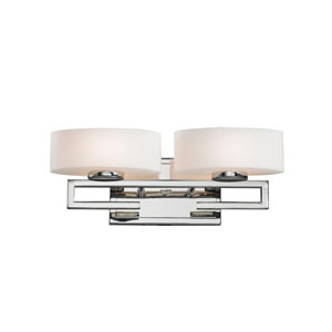Cetynia Chrome Two-Light LED Bath Vanity