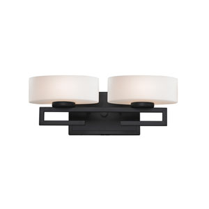 Cetynia Painted Bronze Two-Light LED Bath Vanity