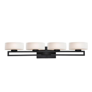 Cetynia Painted Bronze Four-Light LED Bath Vanity