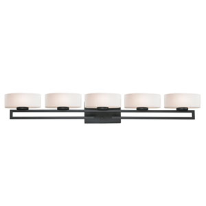 Cetynia Painted Bronze Five-Light LED Bath Vanity