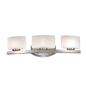 Galati Brushed Nickel Three-Light LED Bath Vanity