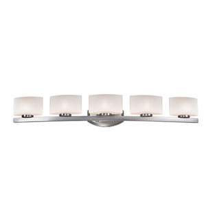 Galati Brushed Nickel Five-Light LED Bath Vanity