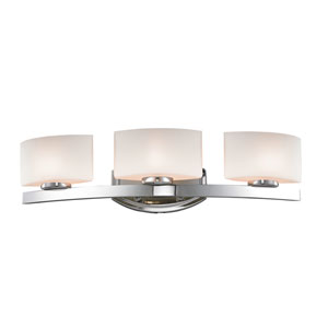 Galati Chrome Three-Light LED Bath Vanity