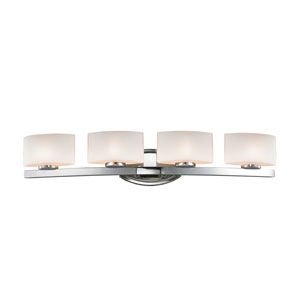 Galati Chrome Four-Light LED Bath Vanity