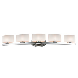 Galati Chrome Five-Light LED Bath Vanity