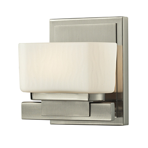 Gaia Brushed Nickel One-Light Vanity Fixture