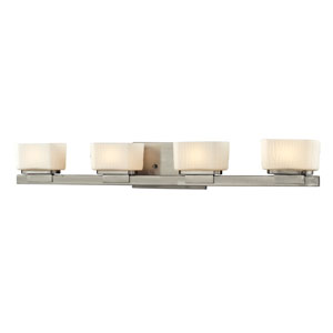 Gaia Brushed Nickel Four-Light LED Bath Vanity