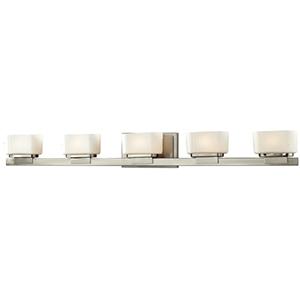 Gaia Brushed Nickel Five-Light Vanity Fixture