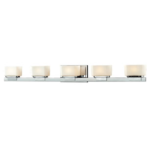 Gaia Chrome Five-Light LED Bath Vanity