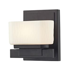 Gaia Bronze One-Light Vanity Fixture
