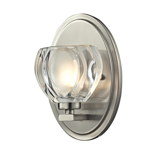 Hale Brushed Nickel One-Light Vanity Fixture
