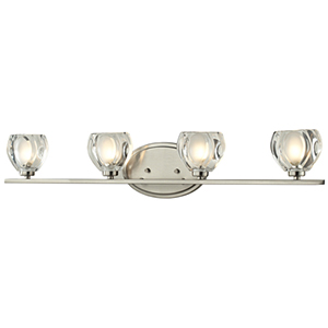 Hale Brushed Nickel Four-Light Vanity Fixture