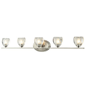 Hale Brushed Nickel Five-Light LED Bath Vanity