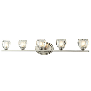 Hale Brushed Nickel Five-Light Vanity Fixture