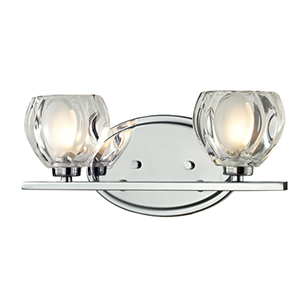 Hale Chrome Two-Light Vanity Fixture