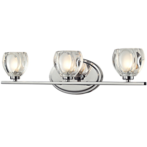 Hale Chrome Three-Light Vanity Fixture