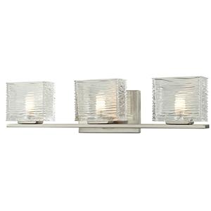 Jaol Brushed Nickel Three-Light Vanity Light