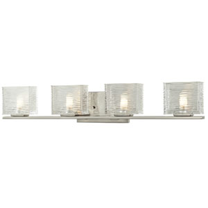 Jaol Brushed Nickel Four-Light LED Bath Vanity