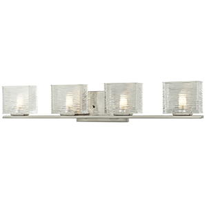 Jaol Brushed Nickel Four-Light Vanity Light