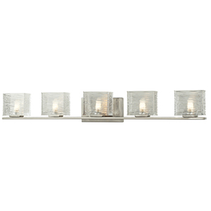 Jaol Brushed Nickel Five-Light Vanity Light